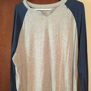 Cotton long sleeve baseball t shirt